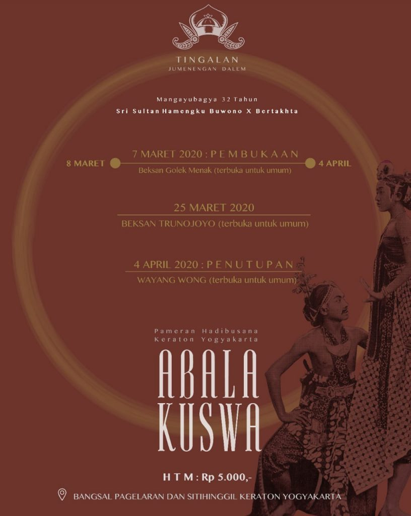 Pameran Hadibusana Keraton Yogyakarta ABALA KUSWA